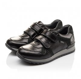 Детские кроссовки Woopy Orthopedic черные для мальчиков натуральная кожа размер 35-39 (3088) Фото 3