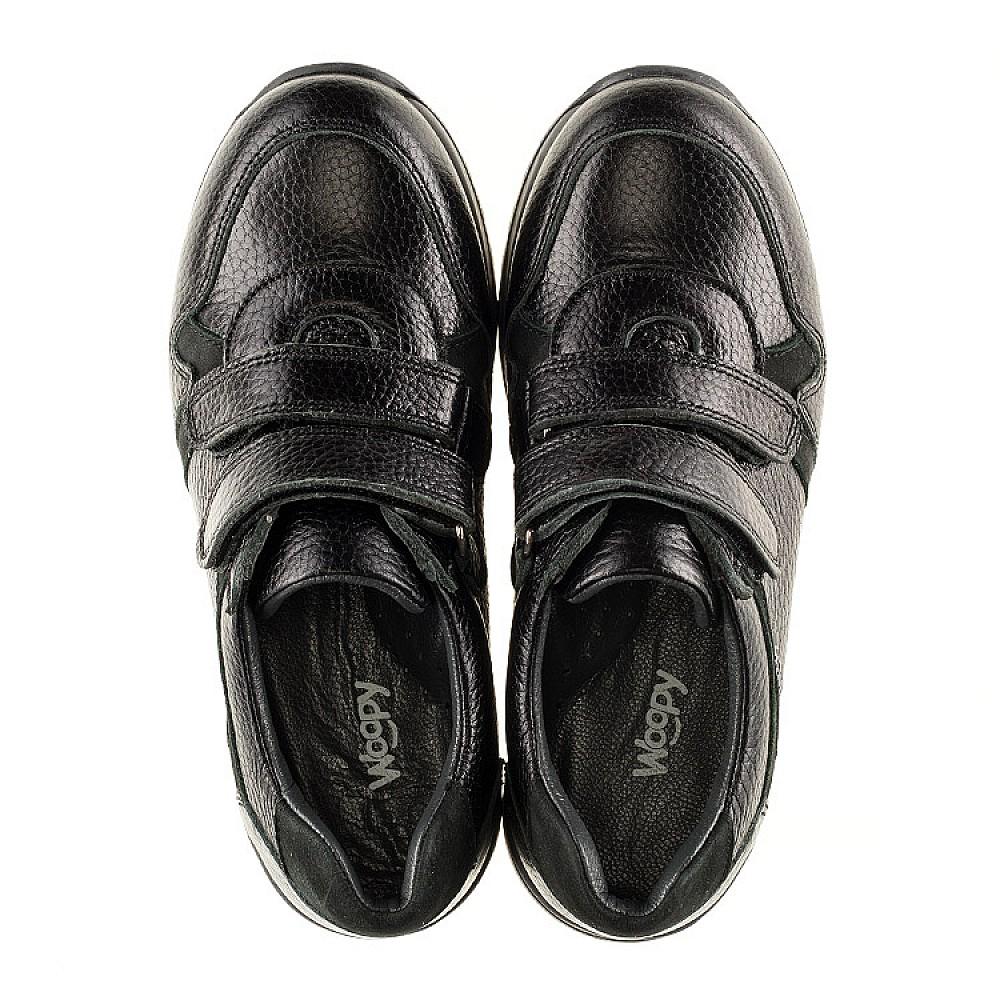 Детские кроссовки Woopy Orthopedic черные для мальчиков натуральная кожа размер 30-39 (3088) Фото 5