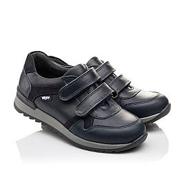 Детские туфли спортивные Woopy Orthopedic темно-синие для мальчиков натуральная кожа размер - (3090) Фото 1