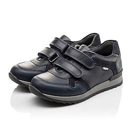Детские туфли спортивные Woopy Orthopedic темно-синие для мальчиков натуральная кожа размер - (3090) Фото 3