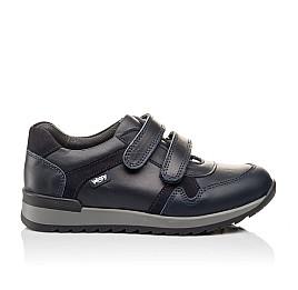 Детские туфли спортивные Woopy Orthopedic темно-синие для мальчиков натуральная кожа размер - (3090) Фото 4