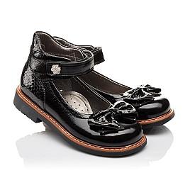 Детские туфли ортопедические Woopy Orthopedic черные для девочек натуральная лаковая кожа размер - (3091) Фото 1