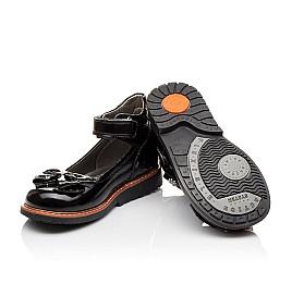Детские туфли ортопедические Woopy Orthopedic черные для девочек натуральная лаковая кожа размер - (3091) Фото 2