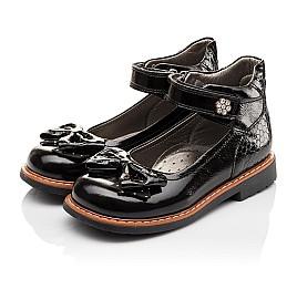 Детские туфли ортопедические Woopy Orthopedic черные для девочек натуральная лаковая кожа размер - (3091) Фото 3