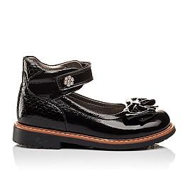 Детские туфли ортопедические Woopy Orthopedic черные для девочек натуральная лаковая кожа размер - (3091) Фото 4