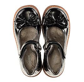 Детские туфли ортопедические Woopy Orthopedic черные для девочек натуральная лаковая кожа размер - (3091) Фото 5