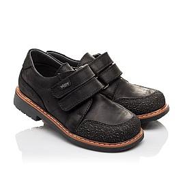 Детские туфли Woopy Orthopedic черные для мальчиков натуральный нубук OIL размер - (3092) Фото 1