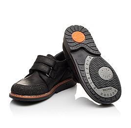 Детские туфли Woopy Orthopedic черные для мальчиков натуральный нубук OIL размер - (3092) Фото 2