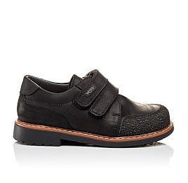 Детские туфли Woopy Orthopedic черные для мальчиков натуральный нубук OIL размер - (3092) Фото 4