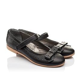Детские туфли Woopy Orthopedic черный для девочек натуральная кожа размер - (3093) Фото 1
