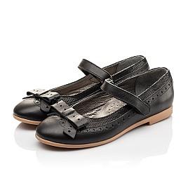 Детские туфли Woopy Orthopedic черный для девочек натуральная кожа размер - (3093) Фото 3