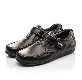 Детские туфли Woopy Orthopedic черные для мальчиков натуральная кожа размер - (3094) Фото 3