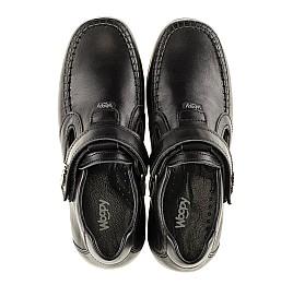 Детские туфли Woopy Orthopedic черные для мальчиков натуральная кожа размер - (3094) Фото 5