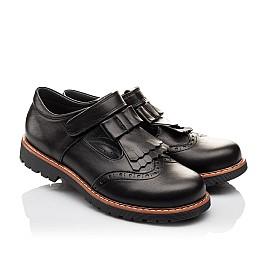Детские туфли Woopy Orthopedic черные для девочек натуральная кожа размер - (3095) Фото 1