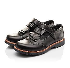 Детские туфли Woopy Orthopedic черные для девочек натуральная кожа размер - (3095) Фото 3