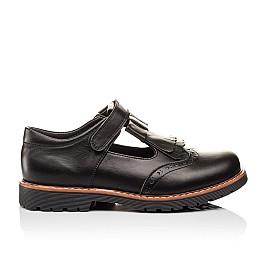 Детские туфли Woopy Orthopedic черные для девочек натуральная кожа размер - (3095) Фото 4