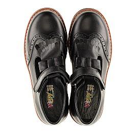 Детские туфли Woopy Orthopedic черные для девочек натуральная кожа размер - (3095) Фото 5