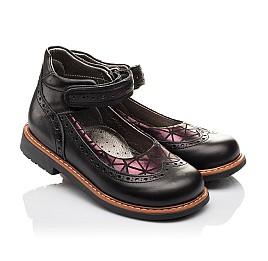 Детские туфли ортопедические Woopy Orthopedic черные для девочек натуральная кожа размер - (3096) Фото 1