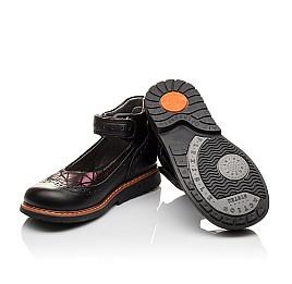 Детские туфли ортопедические Woopy Orthopedic черные для девочек натуральная кожа размер - (3096) Фото 2