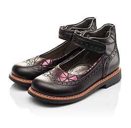 Детские туфли ортопедические Woopy Orthopedic черные для девочек натуральная кожа размер - (3096) Фото 3