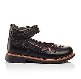 Детские туфли ортопедические Woopy Orthopedic черные для девочек натуральная кожа размер - (3096) Фото 4