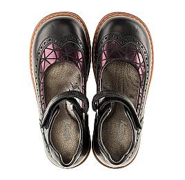 Детские туфли ортопедические Woopy Orthopedic черные для девочек натуральная кожа размер - (3096) Фото 5