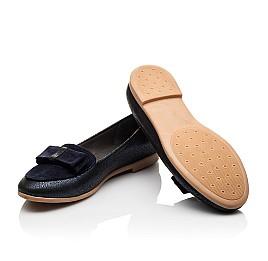 Детские туфли Woopy Orthopedic темно-синие для девочек натуральный нубук размер - (3105) Фото 2
