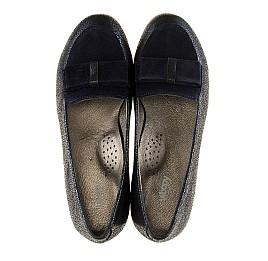 Детские туфли Woopy Orthopedic темно-синие для девочек натуральный нубук размер - (3105) Фото 5
