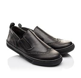 Детские туфлі Woopy Orthopedic черные для мальчиков натуральная кожа размер - (3112) Фото 1