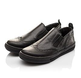 Детские туфлі Woopy Orthopedic черные для мальчиков натуральная кожа размер - (3112) Фото 3