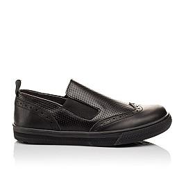 Детские туфлі Woopy Orthopedic черные для мальчиков натуральная кожа размер - (3112) Фото 4