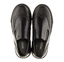Детские туфлі Woopy Orthopedic черные для мальчиков натуральная кожа размер - (3112) Фото 5