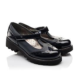 Детские туфли Woopy Orthopedic темно-синие для девочек лаковая кожа/натуральная кожа размер - (3113) Фото 1
