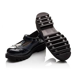 Детские туфли Woopy Orthopedic темно-синие для девочек лаковая кожа/натуральная кожа размер - (3113) Фото 2