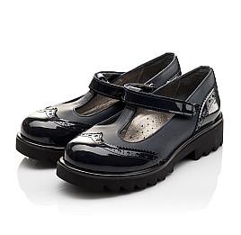 Детские туфли Woopy Orthopedic темно-синие для девочек лаковая кожа/натуральная кожа размер - (3113) Фото 3