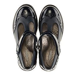 Детские туфли Woopy Orthopedic темно-синие для девочек лаковая кожа/натуральная кожа размер - (3113) Фото 5