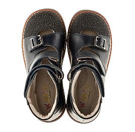 Детские ортопедические туфли (с высоким берцем) Woopy Orthopedic синие для мальчиков натуральная кожа размер - (3116) Фото 5