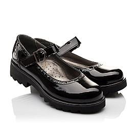 Детские туфли Woopy Orthopedic черные для девочек лаковая кожа размер - (3117) Фото 1
