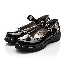 Детские туфли Woopy Orthopedic черные для девочек лаковая кожа размер - (3117) Фото 3