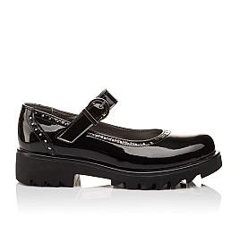 Детские туфли Woopy Orthopedic черные для девочек лаковая кожа размер - (3117) Фото 4
