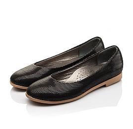 Детские туфли Woopy Orthopedic черные для девочек  натуральная кожа размер - (3118) Фото 3