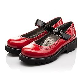 Детские туфли (застежка липучка) Woopy Orthopedic красные для девочек лаковая кожа размер 36-36 (3119) Фото 3