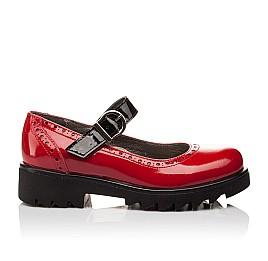 Детские туфли (застежка липучка) Woopy Orthopedic красные для девочек лаковая кожа размер 36-36 (3119) Фото 4
