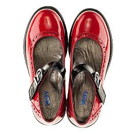 Детские туфли (застежка липучка) Woopy Orthopedic красные для девочек лаковая кожа размер 36-36 (3119) Фото 5