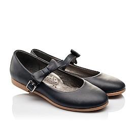Детские туфли Woopy Orthopedic синие для девочек  натуральная кожа размер - (3120) Фото 1