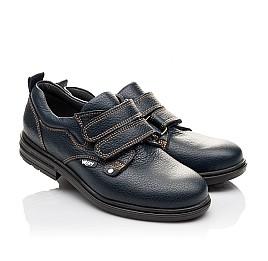Детские туфли Woopy Orthopedic темно-синие для мальчиков натуральная кожа размер - (3127) Фото 1