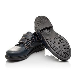 Детские туфли Woopy Orthopedic темно-синие для мальчиков натуральная кожа размер - (3127) Фото 2