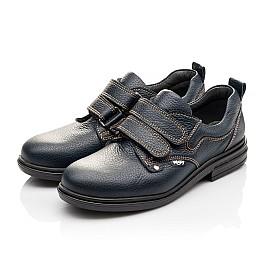 Детские туфли Woopy Orthopedic темно-синие для мальчиков натуральная кожа размер - (3127) Фото 3
