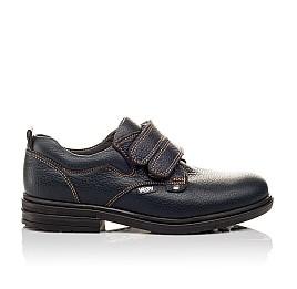 Детские туфли Woopy Orthopedic темно-синие для мальчиков натуральная кожа размер - (3127) Фото 4
