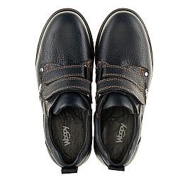 Детские туфли Woopy Orthopedic темно-синие для мальчиков натуральная кожа размер - (3127) Фото 5